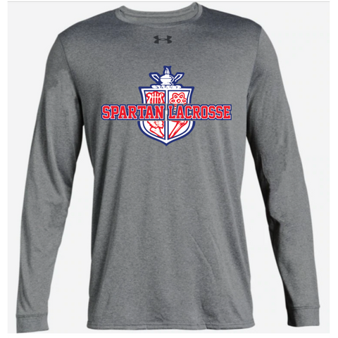 Simley Lacrosse Adult Under Armour (Locker Tee 2.0 LS) Gray
