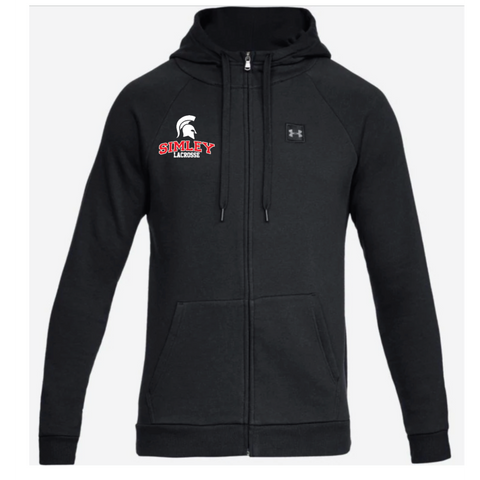 Simley Lacrosse Adult Under Armour (Rival Fleece Full Zip) Black