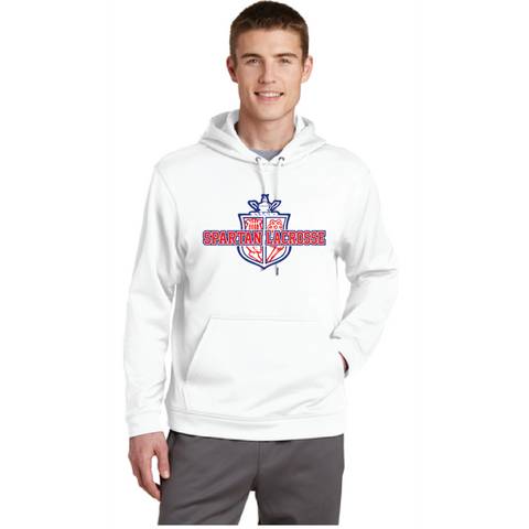 Simley Lacrosse Men's Sport-Tek (Fleece Hooded Pullover) White