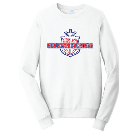 Simley Lacrosse Men's Port & Company (Fleece Pullover Hooded Sweatshirt) White