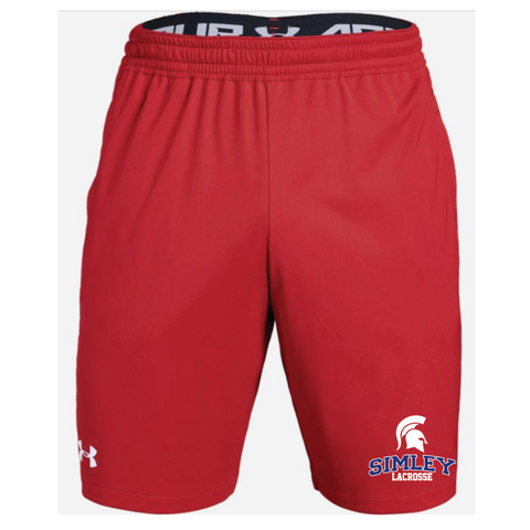 Simley Lacrosse Men's Under Armour (Pocketed Raid Short) Red