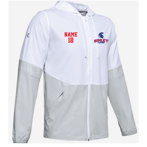Simley Lacrosse Men's Under Armour (Squad 2.0 Woven Jacket) White