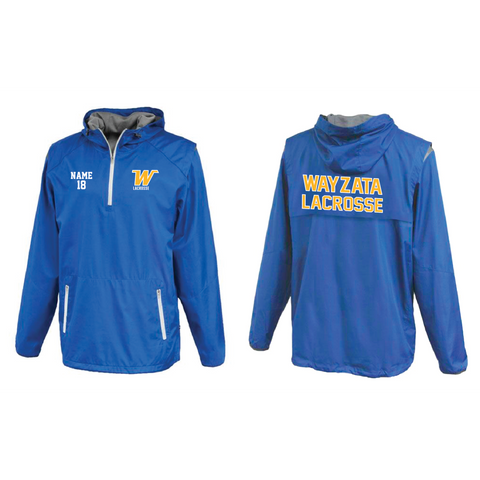 Wayzata Lacrosse Adult (Pacesetter anorak) Royal **High SCHOOL RECOMMENDED**