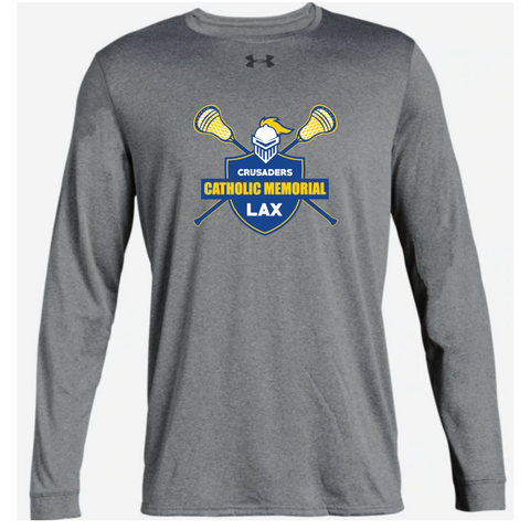 CMH Lacrosse Adult Under Armour (Locker Tee 2.0 LS) Gray