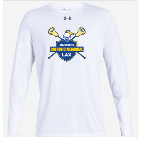 CMH Lacrosse Adult Under Armour (Locker Tee 2.0 LS) White