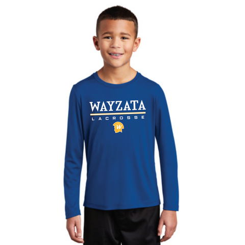 **YOUTH** Wayzata Lacrosse Sport-Tek (Posi-UV ™ Pro Long Sleeve Tee) Royal