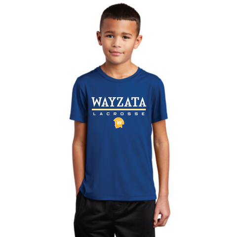**YOUTH** Wayzata Lacrosse Sport-Tek (Posi-UV ™ Pro Short Sleeve Tee) Royal