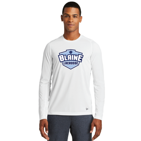 Blaine Men's New Era (Series Performance Long Sleeve Crew Tee) White