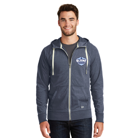 Blaine Lacrosse Men's New Era (Sueded Cotton Full-Zip Hoodie) Navy