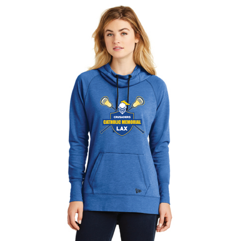 CMH Lacrosse Women's New Era (Tri-Blend Fleece Pullover Hoodie) Royal