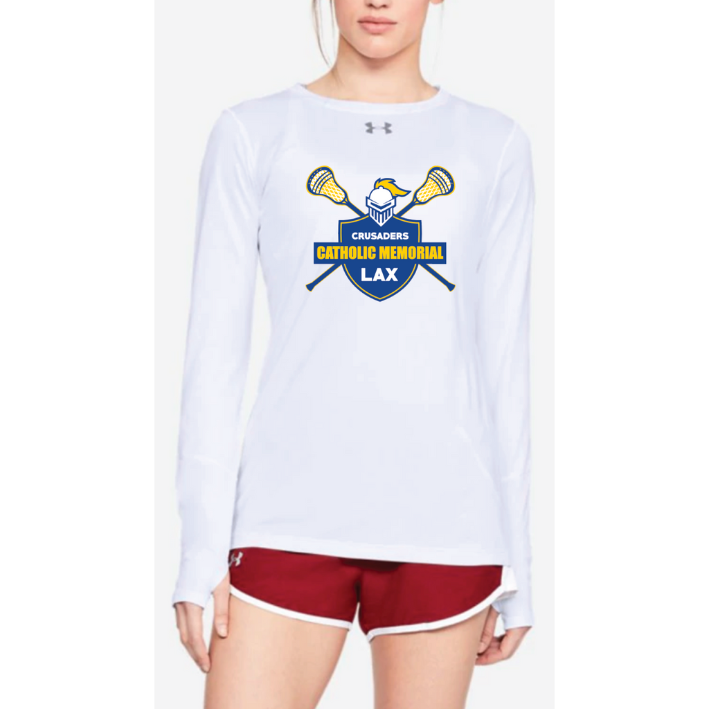 CMH Lacrosse Women's Under Armour (Locker LS 2.0) White