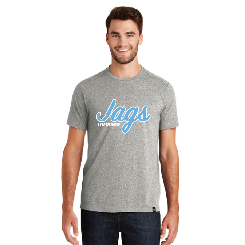 Jefferson Lacrosse Men's New Era (Heritage Blend Crew Tee) Light Graphite