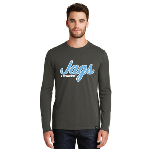 Jefferson Lacrosse Men's New Era (Heritage Blend Long Sleeve Crew Tee) Shadow Grey Heather