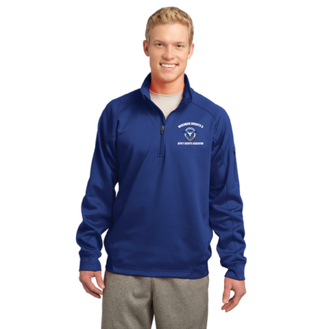 Wisconsin Sheriff Men's Sport-Tek (Tech Fleece 1/4-Zip Pullover) Royal