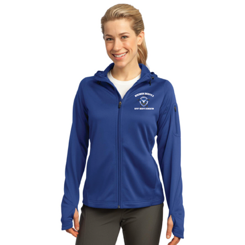 Wisconsin Sheriff Women's Sport-Tek (Tech Fleece Full-Zip Hooded Jacket) Royal