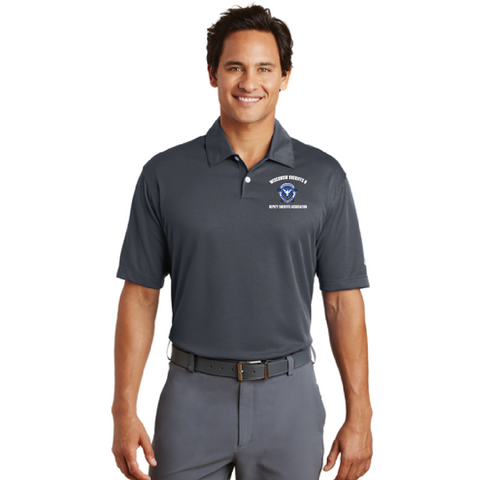 Wisconsin Sheriff Nike Golf (Dri-FIT Pebble Texture Polo) Gray