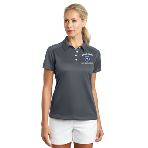 Wisconsin Sheriff Ladies Nike Golf (Dri-FIT Pebble Texture Polo) Gray