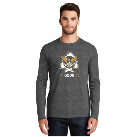 Minnetonka PD Men's New Era (Heritage Blend Long Sleeve Crew Tee) Black Heather