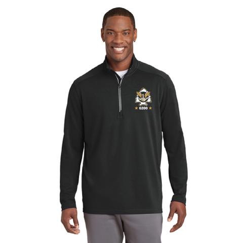 Minnetonka PD Men's Sport-Tek (Sport-Wick® Textured 1/4-Zip Pullover) Black