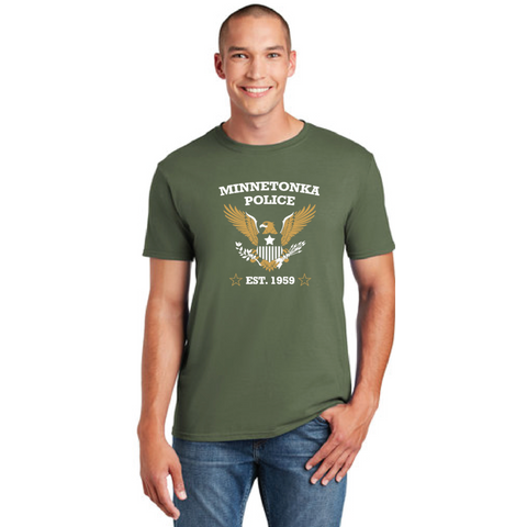 Minnetonka PD Men's Gildan (Softstyle® T-Shirt) Military Green