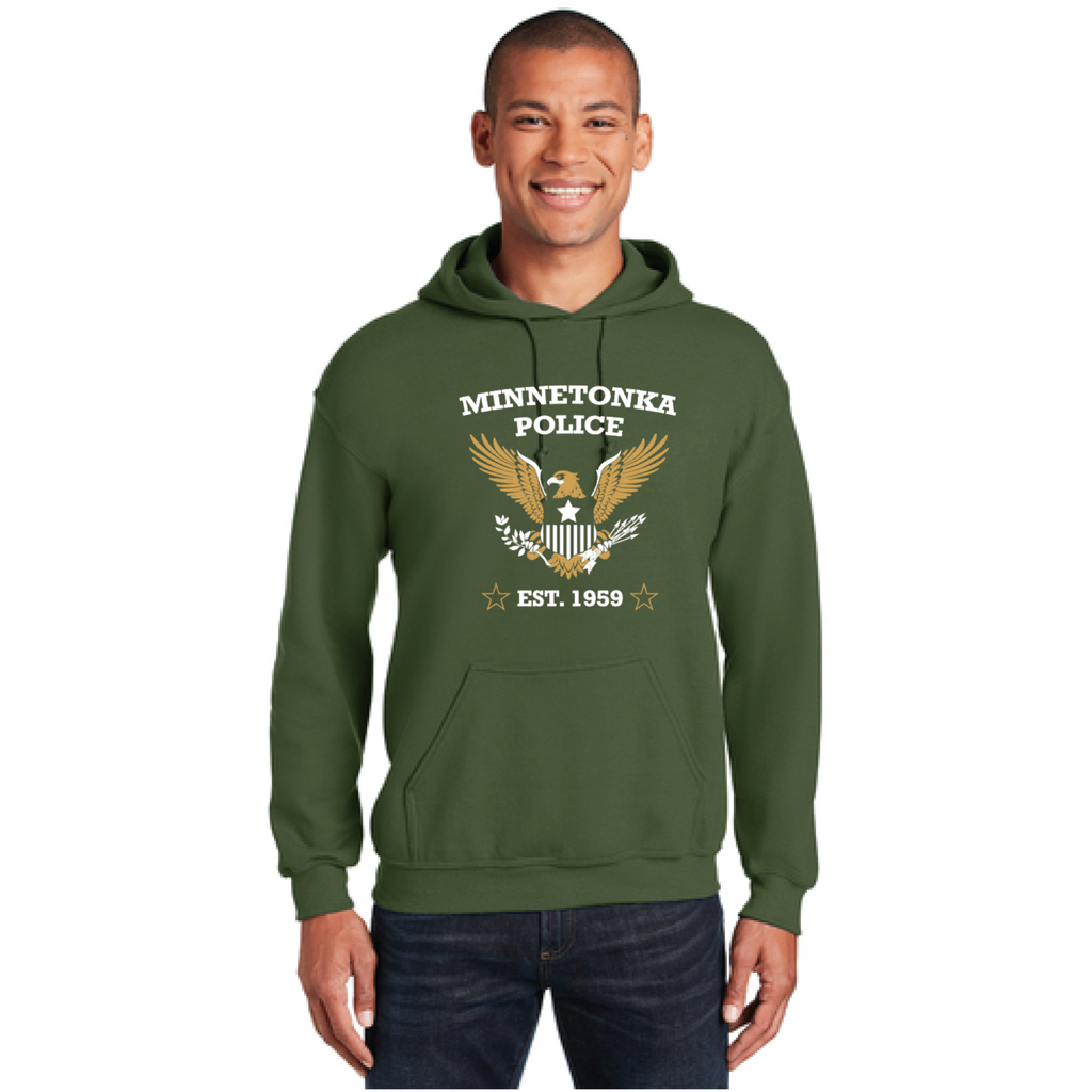 Minnetonka PD Youth Gildan (Heavy Blend Youth Hooded Sweatshirt) Military Green