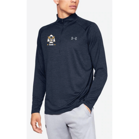 Minnetonka PD Men's Under Armour (Tech 2.0 1/2 Zip) Navy