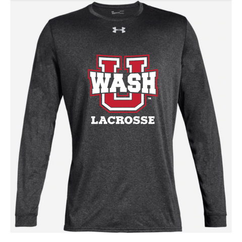 Wash U Lacrosse Adult Under Armour (Locker Tee 2.0 LS) Carbon Heather