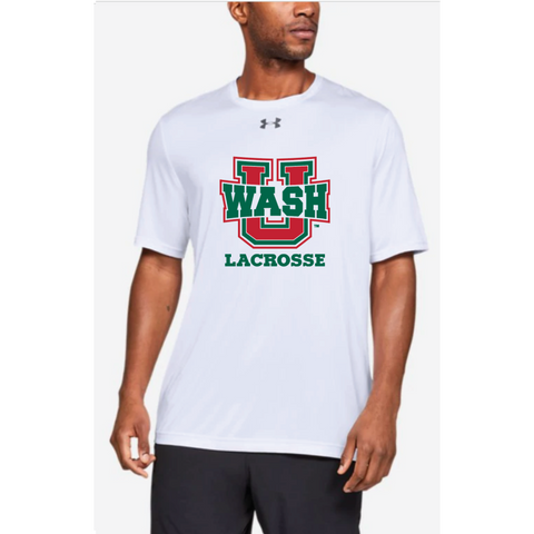 Wash U Lacrosse Adult Under Armour (Locker Tee) White