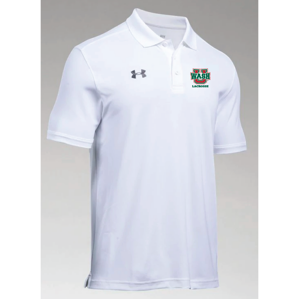 Wash U Lacrosse Men's Under Armour (Team Armour Polo) White