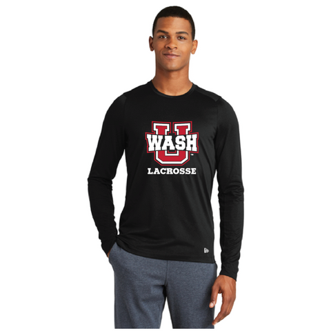Wash U Men's New Era (Series Performance Long Sleeve Crew Tee) Black