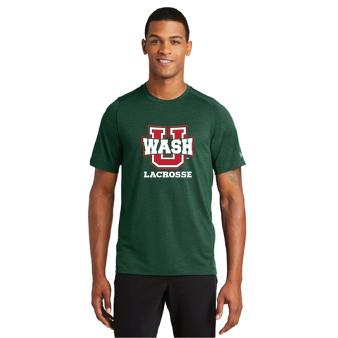 Wash U Men's New Era (Series Performance Crew Tee) Dark Green