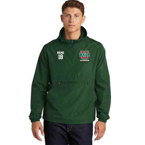 Wash U Lacrosse Adult Sport-Tek (Packable Anorak) Forest Green