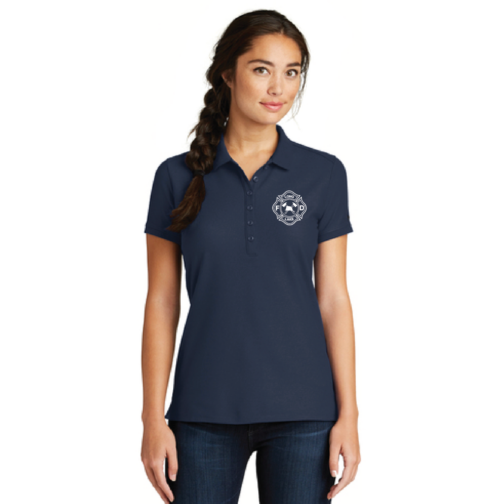 LLF Women's New Era (Venue Home Plate Polo) Navy