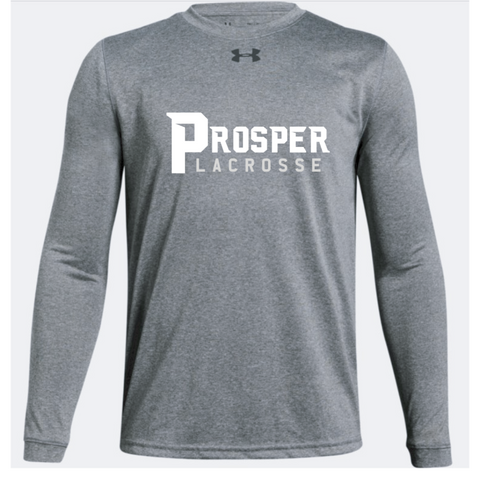 Prosper Lacrosse Youth Under Armour (Locker Tee LS) True Gray Heather