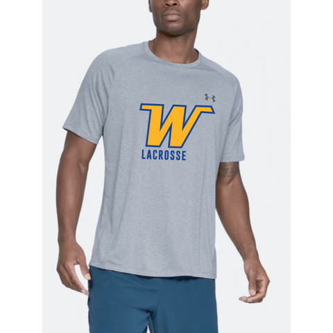 Wayzata Lacrosse Adult Under Armour (Tech Tee) Steel Light Heather