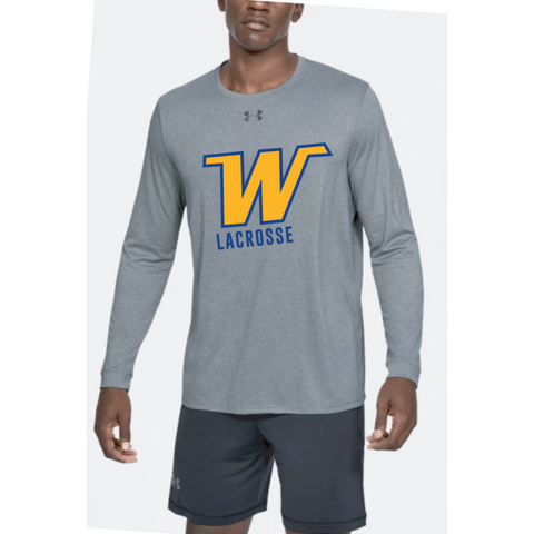 Wayzata Lacrosse Adult Under Armour (Locker Tee 2.0 LS) True Gray Heather
