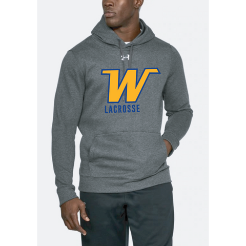 Wayzata Lacrosse Men's Under Armour (Hustle Fleece Hoody) Carbon Heather