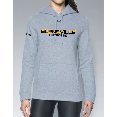 Burnsville Lacrosse Women's Under Armour (Hustle Fleece Hoody) Gray