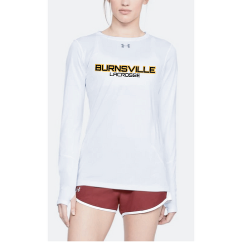 Burnsville Lacrosse Women's Under Armour (Locker LS 2.0) White