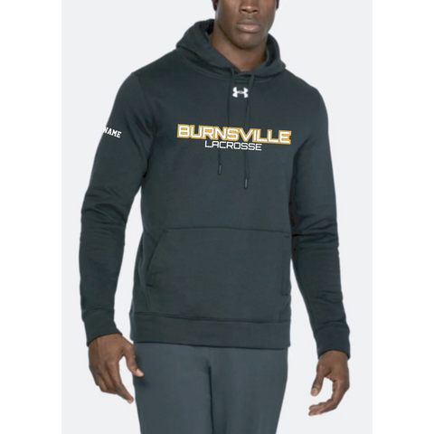 Burnsville Lacrosse Men's Under Armour (Hustle Fleece Hoody) Black