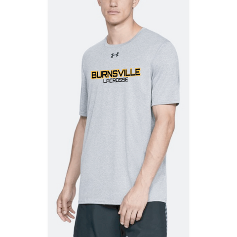 Burnsville Lacrosse Adult Under Armour (Locker Tee) True Gray Heather