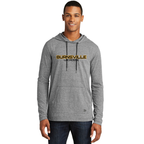 Burnsville Lacrosse Men's New Era (Tri-Blend Performance Pullover Hoodie Tee) Grey