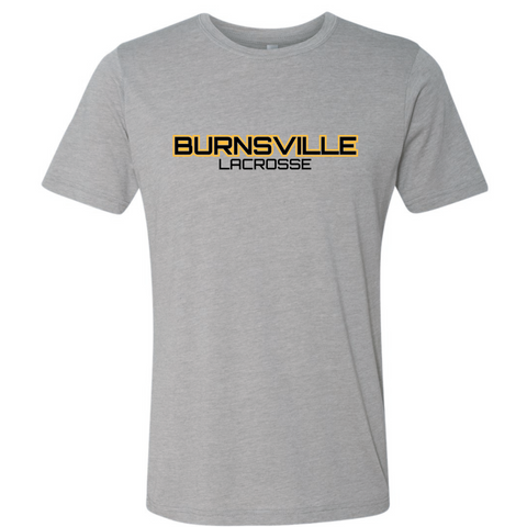 Burnsville Lacrosse Unisex Next Level (Poly/Cotton Crew) Gray
