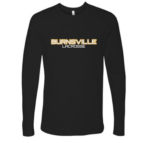 Burnsville Lacrosse Adult Next Level (Premium Long Sleeve Crew) Black