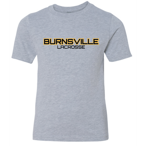 Burnsville Lacrosse Youth Next Level (Premium Short Sleeve Crew) Gray
