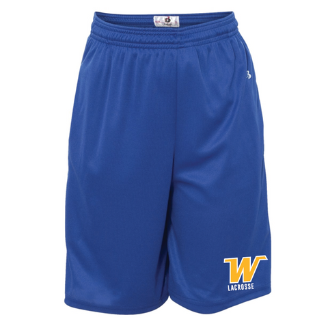 Wayzata Lacrosse Youth Badger (B-Core Pocketed Shorts) Royal