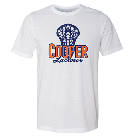 Cooper Lacrosse Unisex Next Level (Poly/Cotton Crew) White