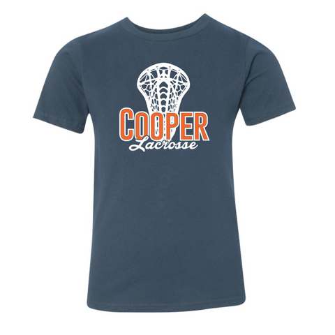 Cooper Lacrosse Youth Next Level (Premium Short Sleeve Crew) Navy