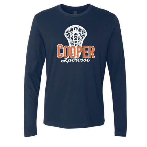 Cooper Lacrosse Adult Next Level (Premium Long Sleeve Crew) Navy