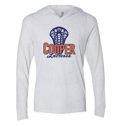Cooper Lacrosse Unisex Next Level (Triblend Hooded Tee) White